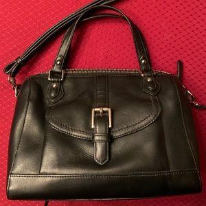 Black Leather Crossbody/Hand bag